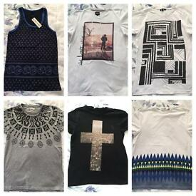Men's size small t shirt clothing bundle ASOS top man LEE jeans etc.