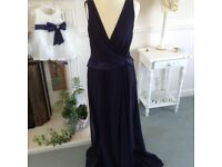 2 navy blue bridesmaid dresses 8 and 10