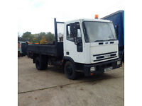 Iveco 75E15 6 cylinder 7.5 ton tipper. On springs suspension.