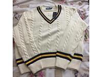 Ralph Lauren Polo Cream Cricket Jumper XL Original