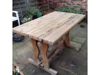 Vintage Solid Pine Table