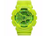 CASIO G Shock GA-110b-3 green neon hyper color watch nixon baby-g kors
