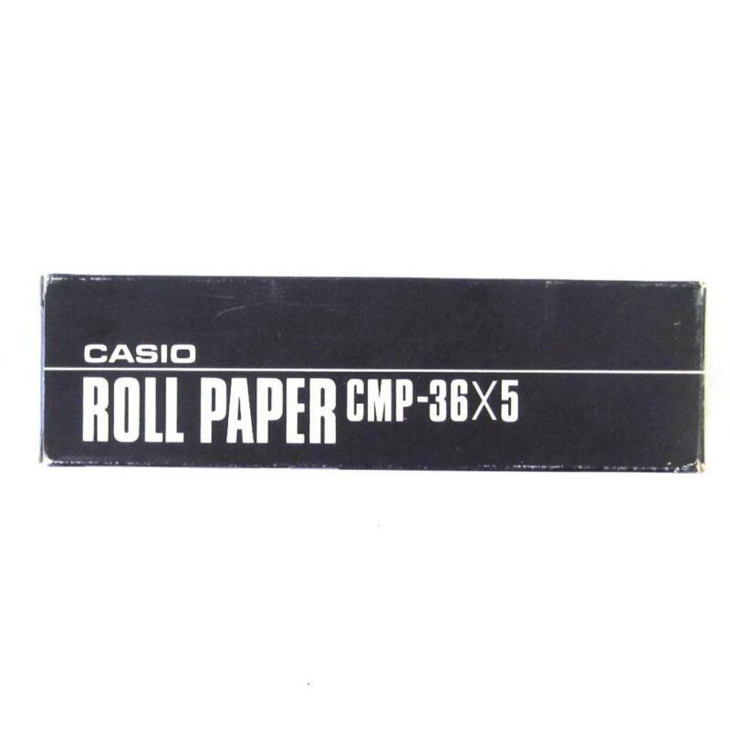 Casio Roll Paper CMP-36X5 5 Rolls New in Box For Printing Calculator