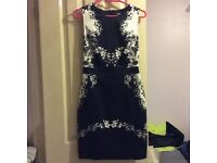 Dress from Oasis. Black and white with flower detail