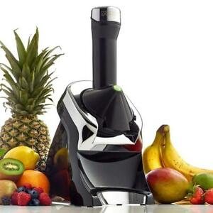 NEW Yonanas Elite Frozen Healthy Dessert Maker - 100% Fruit Soft-Serve Maker (Black)