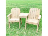 Love bench | Garden bench for couples | Companion Seats | Loveseats | FREE delivery Norwich