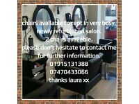 rent a chair opportunity in very busy salon.