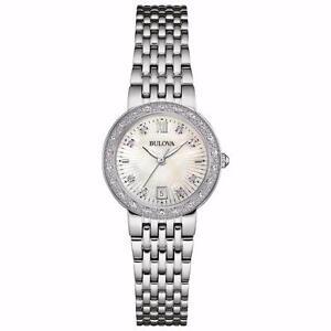 Bulova Diamond Maiden Lane 26mm Women's Analog Dress Watch - Silver