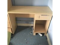 Beech effect desk with swivel chair!!