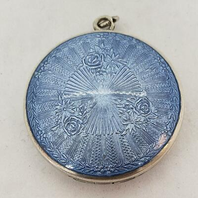 Romantic flower delicate cabochon charm pendant necklace Israel Hand made Blue Field