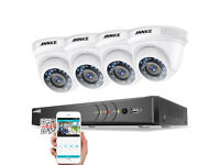 NEW BOXED ANNKE 5IN1 3MP DVR Dome 1080P CCTV Outdoor IP66 IR Cut Camera Security System UK