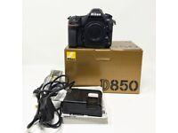 Nikon D850 45.7MP FX DSLR Camera With 4K Video - Body Only - UK Model & Warrenty