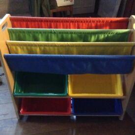 Children's sling wooden book case