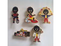 5 xRobertsons 1990's Golly Badges -ALL VGC