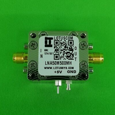 Low Noise Amplifier 0.9db Nf 50mhz To 500mhz 27db Gain 22dbm P1db Sma