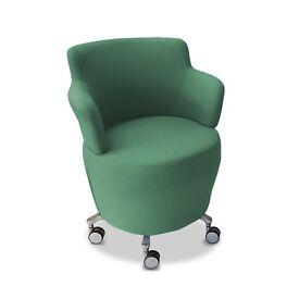 Green Modern Swivel Tub Chair w/ Buffet