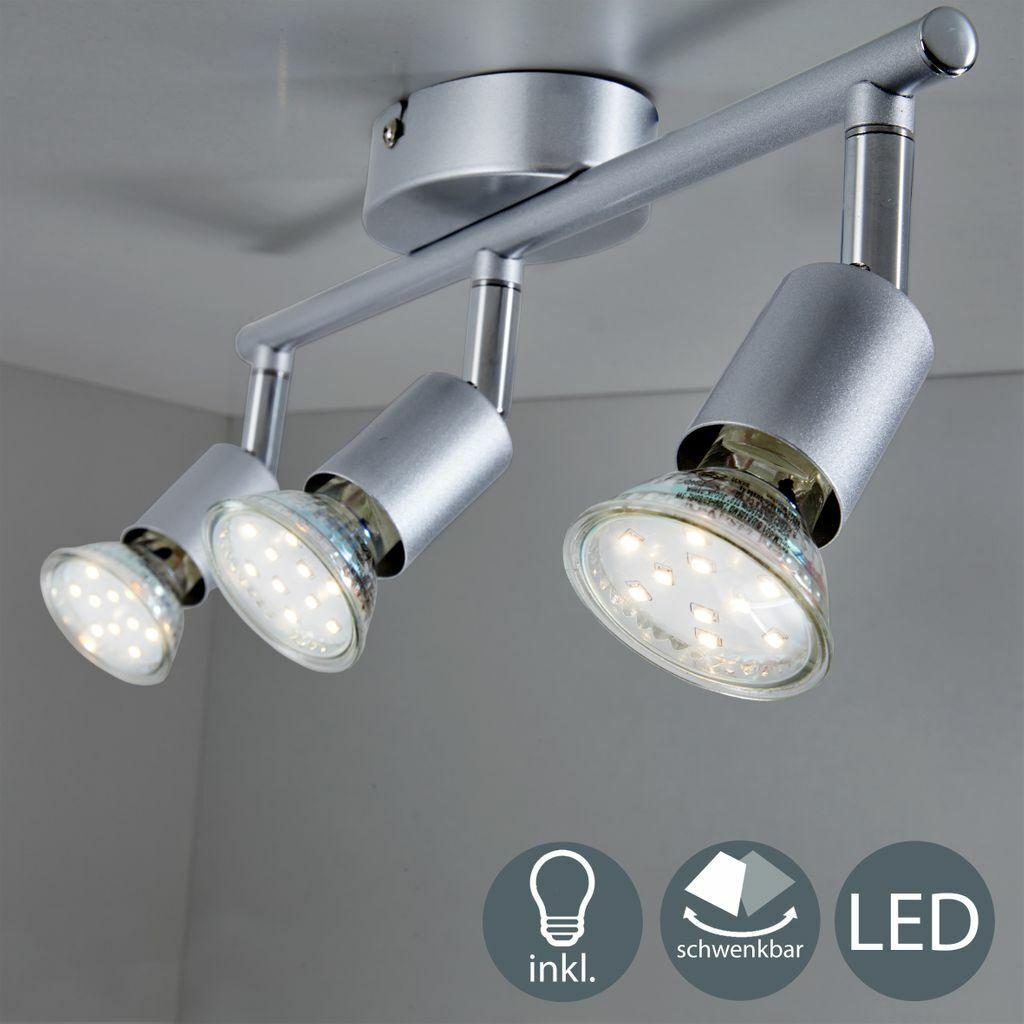 LED Decken-Lampe Spot Strahler GU10 3-flammig Deckenleuchte Wohnzimmer Flurlampe