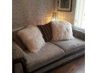 as new 4seater cord settee and matching love seat