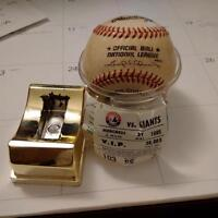 Expos Moises Alou foul ball from 1995 with game ticket