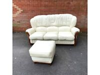 Extremely Comfy 3 Seater + Footstool Sofa- NEED TO BE GONE BY Sunday ( Delivery FREE )