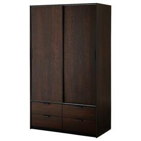 IKEA Trysil Sliding door wardrobe with 4 drawers large