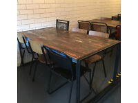 6 Seater Industrial Style Table and Benches