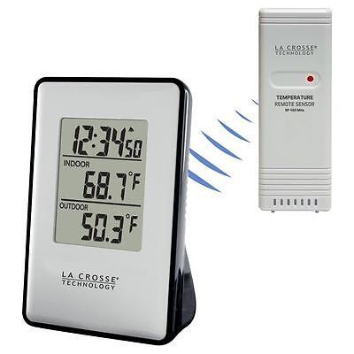 308-1910 La Crosse Technology Wireless Thermometer Weather Station TX191 - Black