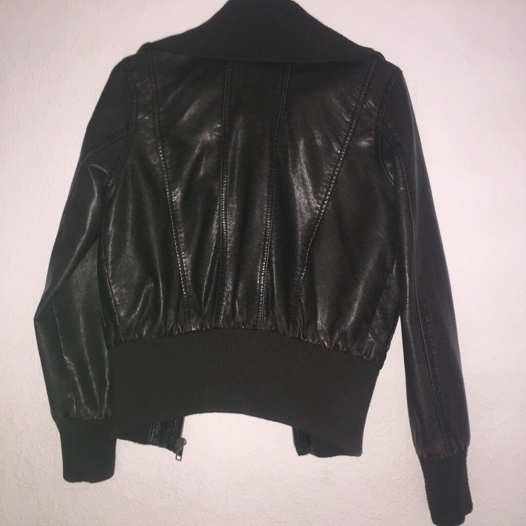 Miso faux leather jacket woman's size 10