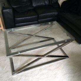RETRO Glass Top Coffee Table
