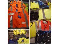 JOB LOT PPE HIGH VIS PARKA/ VEST/ WATERPROOF OVERALL, JACKET, T-SHIRT, HARD HAT