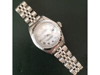 ROLEX LADIES OYSTER DATE 69174 PERPETUAL STAINLESS STEEL 100% GENUINE WITH BOX SERVICE & WARRANTIED