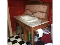 Victorian wash stand, needs a new basin and crack repair to marble.£40