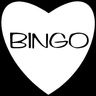 I LOVE BINGO Heart Sticker Window Decal Bumper Vinyl - I Love Bingo
