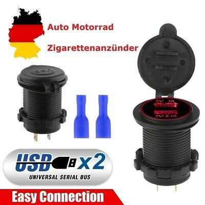 Dual USB Charger Socket Adapter Power Outlet 5V 3.1A for 12V 24V Car Motorcycle Car Power Socket