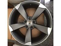 New Audi TTRS style alloy wheels 19 inch grey 5x112 black edition rotor A4