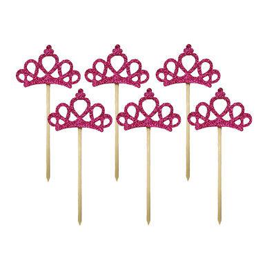 Form Kuchen Topper Cupcake Picks für Geburtstag Party (Krone Toppers Für Cupcakes)