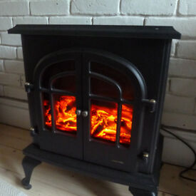 Warmlite electric heater looks like a woodburning stove