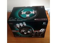 LOGITECH G27 Force Feedback - PC, PS2 and PS3 - Steering wheel, pedel set, 6 speed shifter+reverse.
