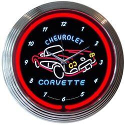 Corvette C1 Chevrolet Car Dealer Mancave Car Garage Neon Sign Neon Clock 15x15