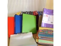 ATTENTION STUDENTS; A Selection of Folders / Files / Polypockets / Dividers