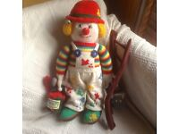 Large knitted clown doll