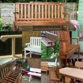 Handmade Garden benches