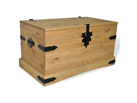 Storage Chest Trunk Coffee Table Mexican Pine Corona Furniture