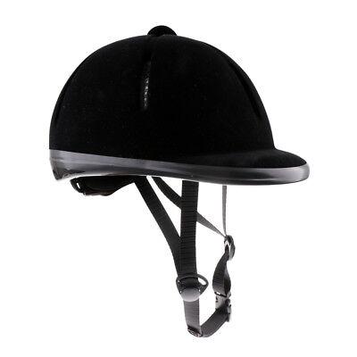 b64c7e5a190 Kids Equestrian Adjustable Horse Riding Hat Ventilated Velvet Helmet 48-54cm