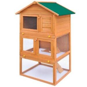 Outdoor Rabbit Hutch Small Animal Cage 3(SKU:170161)Free Delivery* Mount Kuring-gai Hornsby Area Preview