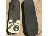 2 x child's skateboards in used condition £5 for both