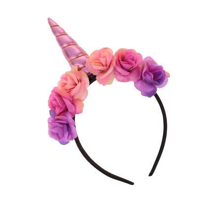Einhorn Haarband Kinder Haarreif Haarschmuck für Mädchen Geburtstag Party