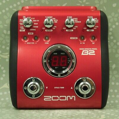 ZOOM B2 Bass Guitar Multi effects pedal (501612)