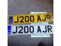 Private Reg plate