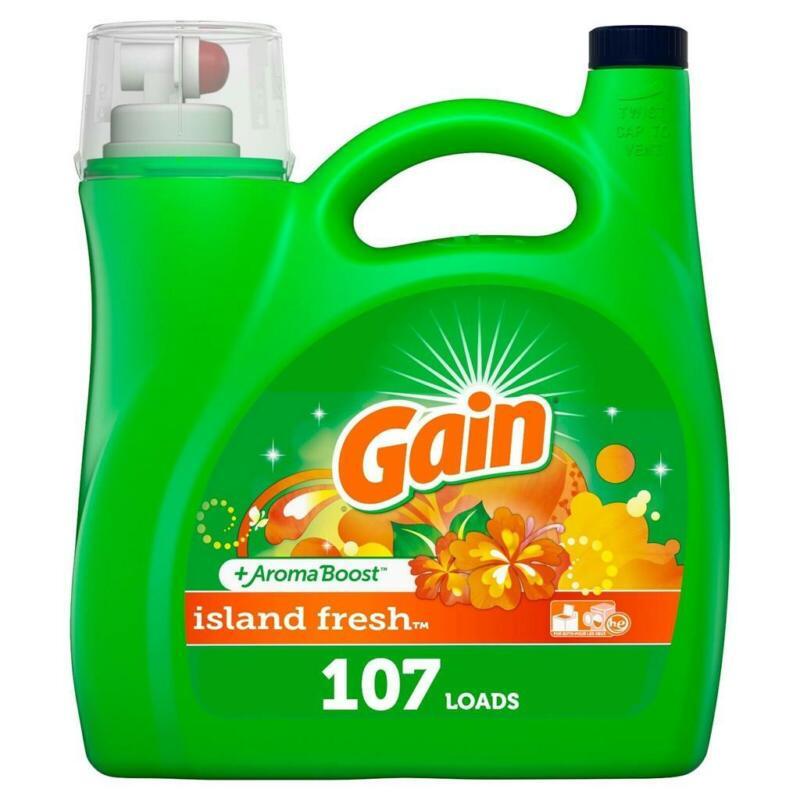 Gain Liquid Laundry Detergent Island Fresh He , 165 fl oz 107 Loads